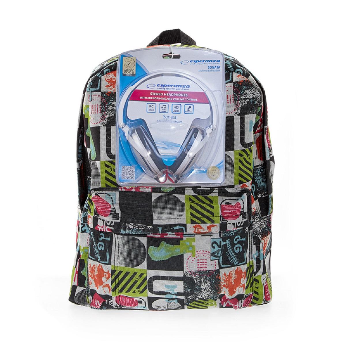 Рюкзак городской 3D Bags Луна, 16 л + ПОДАРОК: Наушники3DBC490NРюкзак городской 3D Bags Луна, 16 л + ПОДАРОК: Наушники. Стильный, вместительный и практичный, рюкзак понравится и школьникам, истудентам.Просторный внутренний отсек, наружный карман на молнии будут очень удобны виспользовании.В комплект входят белые стереонаушники с мягкими ушными подушками.Длина кабеля 2м, разъем 3,5мм, сопротивление 32 Ом, диапазон часто - 20 Гц- 20000 Гц, выходная мощность - 100 мВт.Наушники поставляются в цветовом ассортименте. Поставка осуществляется взависимости от наличия на складе.