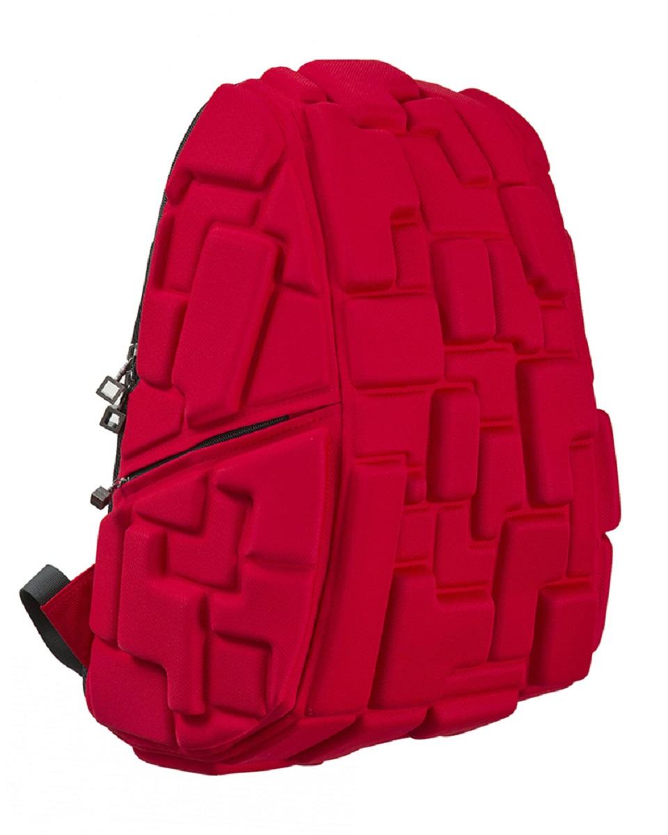 Рюкзак молодежный MadPax Blok Full, цвет: красный, 33 лKZ24484209Стильный и практичный рюкзак MadPax Blok Full уместный в ритме большого города. Основное отделение закрывается на молнию. Внутри изделия есть отделение для ноутбука с максимальным размером диагонали 17 дюймов. По бокам - два дополнительных кармана на молнии. Модель помимо лямки для переноски в руке, мягких и широких регулируемых бретелей снабжена фиксацией на груди. Полностью вентилируемая и ортопедическая спинка создаёт дополнительный комфорт вашей спине.