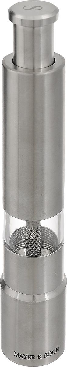 Мельница для соли Mayer & Boch, высота 16 см24168_SМельница Mayer & Boch предназначена для помола соли и других специй. Изделие, выполненное из нержавеющей стали и акрила, идеально подходит для сервировки стола. Мельница добавит вашим блюдам яркие вкусовые краски. Выполненная из высококачественных материалов и имеющая запатентованный и оригинальный механизм, мельница станет незаменимым атрибутом на вашем столе. Она удобна в использовании и имеет оригинальный современный дизайн, который станет ярким акцентом в интерьере вашей кухни.Диаметр основания: 2,5 см. Высота: 16 см.