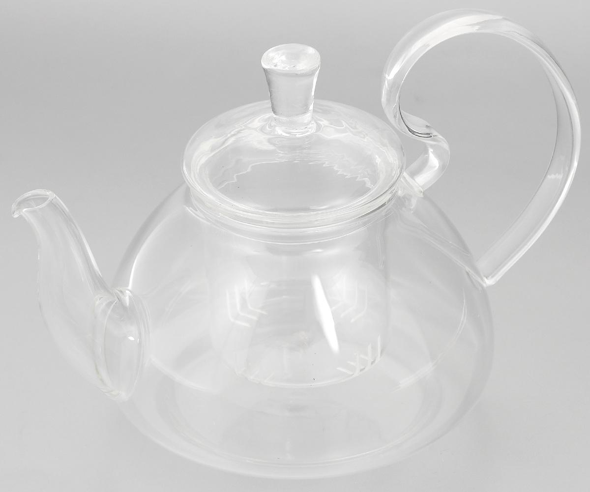 """Заварочный чайник """"Mayer & Boch"""",  выполненный из жаропрочного стекла, практичный  и простой в использовании. Он займет достойное  место на вашей кухне и позволит вам заварить  свежий, ароматный чай. Чайник оснащен сетчатым  фильтром, который задерживает чаинки и  предотвращает их попадание в чашку, а  прозрачные стенки позволяют наблюдать за  насыщением напитка.  Заварочный чайник """"Mayer & Boch"""" послужит  хорошим подарком для друзей и близких. Диаметр чайника (по верхнему краю): 6,5 см. Высота чайника (без учета крышки): 9,5 см. Высота фильтра: 6,5 см. Объем: 600 мл."""