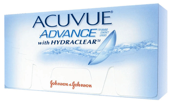 Johnson & Johnson контактные линзы Acuvue Advance (6шт / 8.7 / -0.50)00383Acuvue Advance with Hydraclear - мягкие контактные линзы компании Johnson & Johnson. Они относятся к новому поколению силикон-гидрогелевых контактных линз, которые обеспечивают высокий уровень комфорта на протяжении целого дня. Контактные линзы Acuvue Advance with Hydraclear подойдут для ношения каждый день в течение двух недель. Галифилкон А - силикон-гидрогелевый материал, из которого производят линзы, обладает уникальным свойством отлично пропускать кислород к роговице глаз. Технология Hydraclear позволила внедрить в материал достаточное количество увлажняющих составляющих, способных обеспечить уникальное ощущение мягкости и гладкости. Благодаря этому ваши глаза будут выглядеть здоровыми и свежими даже в конце дня. Ультрафиолетовый фильтр блокирует более 90% УФ-A лучей и 99% - УФ-В лучей. Контактные линзы Acuvue Advance with Hydraclear подойдут людям, которые страдают как от миопии (близорукости), так и гиперметропии (дальнозоркости). Несмотря на любые ваши проблемы со зрением, эти линзы обеспечат четкость зрения и очень долгое ощущение комфорта. С ними вы вообще забудете, что носите линзы! Замена через 2 недели. Дневное ношение. УФ защита. Характеристики:Материал: галифилкон А. Кривизна: 8.7. Оптическая сила: - 0.50. Содержание воды: 47%. Диаметр: 14 мм. Количество линз: 6 шт. Размер упаковки: 9,5 см х 5 см х 1,5 см. Производитель: США. Товар сертифицирован.Контактные линзы или очки: советы офтальмологов. Статья OZON Гид