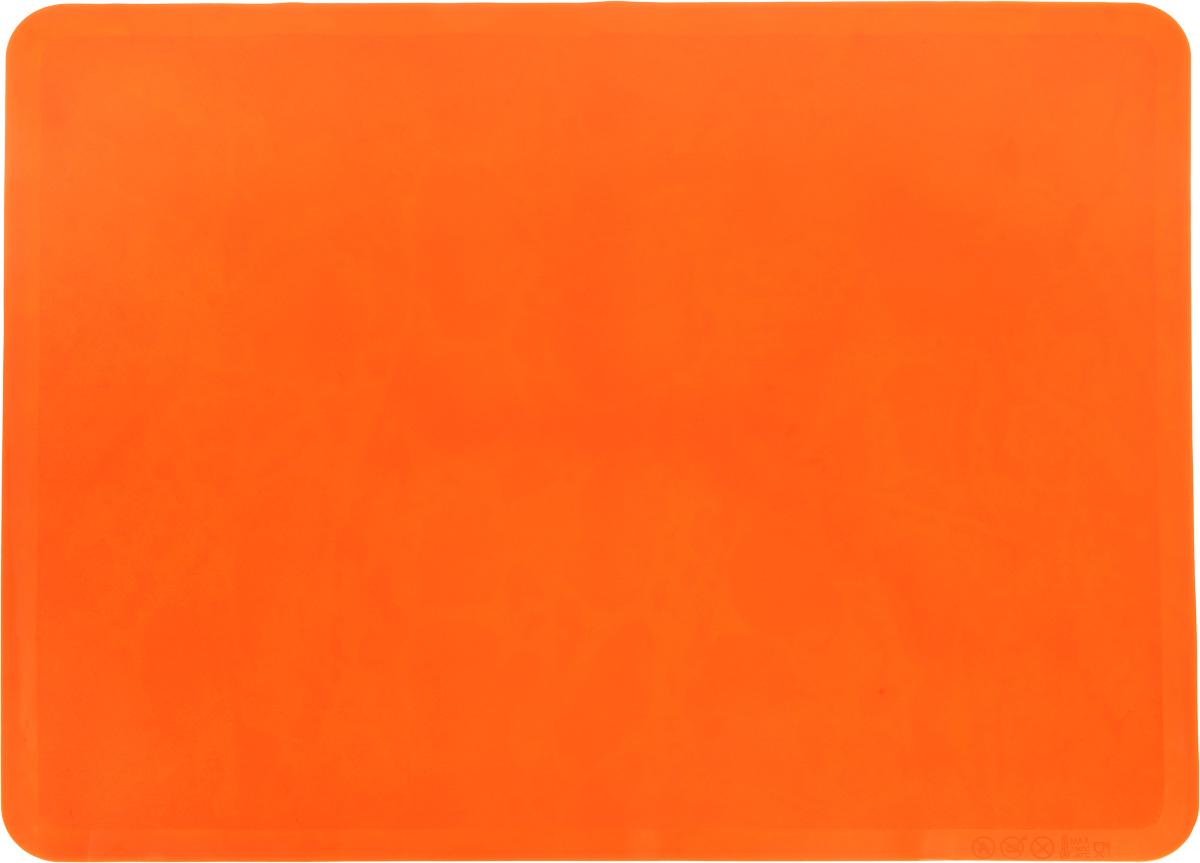 Коврик для теста Elan Gallery, силиконовый, цвет: оранжевый, 40 х 30 см590075Силиконовый коврик Elan Gallery подходит для раскатки теста и обработки других продуктов. Он идеально прилегает к поверхности стола. Также коврик можно использовать в духовках. Материал легко моется.
