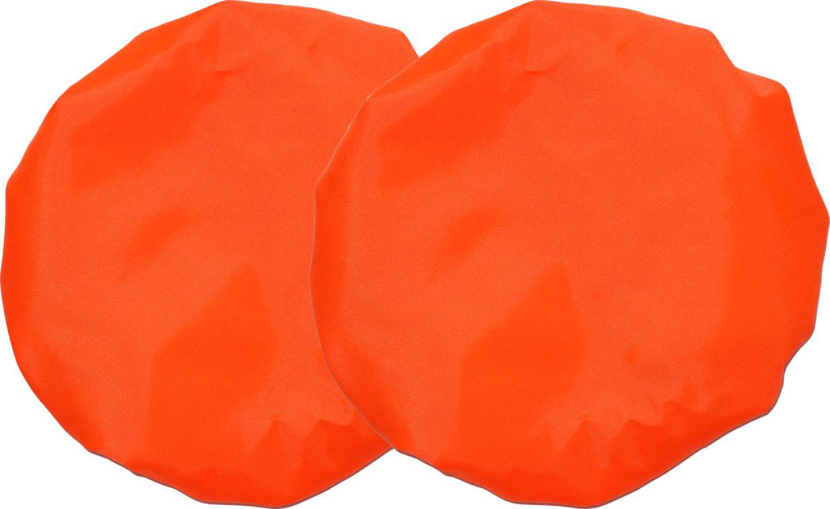 Чудо-Чадо Чехлы на колеса для коляски диаметр 18-28 см цвет оранжевый 2 шт чехлы колеса детской коляски