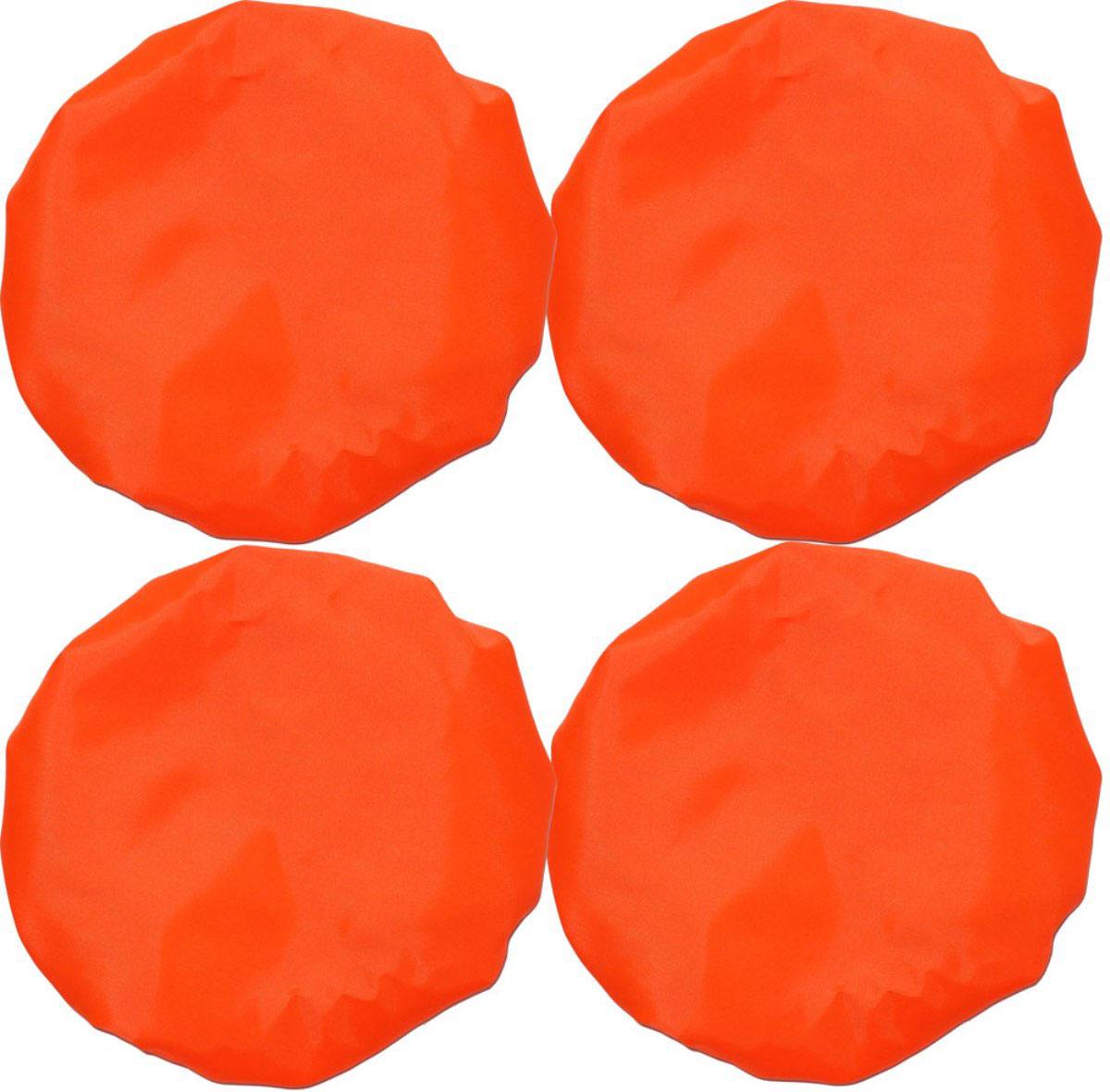 Чудо-Чадо Чехлы на колеса для коляски диаметр 28-38 см цвет оранжевый 4 шт
