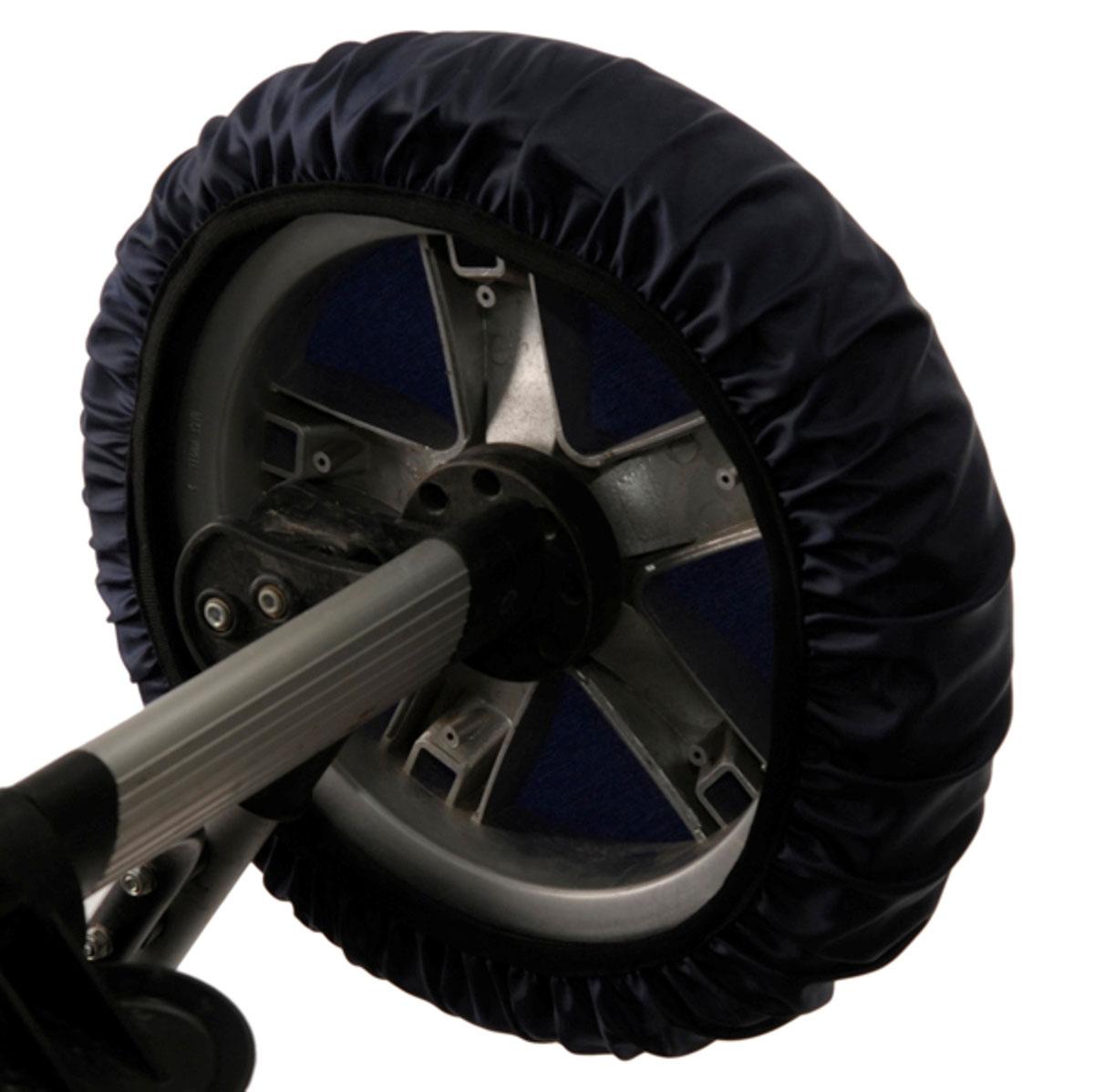 Чудо-Чадо Чехлы на колеса для коляски диаметр 18-28 см цвет темно-синий 4 шт чехлы колеса детской коляски