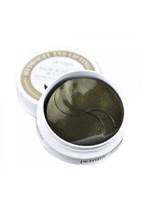 Petitfee Гидрогелевые патчи для глаз Черный жемчуг и золото801820Гидрогелевые патчи для области вокруг глаз с коллоидным золотом и пудрой черного жемчуга 60 шт. (на 30 применений) Патчи пропитаны концентрированной эссенцией, которая реагируя на температуру кожи, растворяется и проникает в глубокие слои дермы, устраняя мимические морщинки. Компонент коллоидное золото обеспечивает увлажняющий эффект и повышает упругость, борется с морщинами, подтягивают кожу вокруг глаз и носогубных складок. Пудра черного жемчуга богата 20 различными минералами и аминокислотами, которые помогают придать ровный сияющий тон коже.