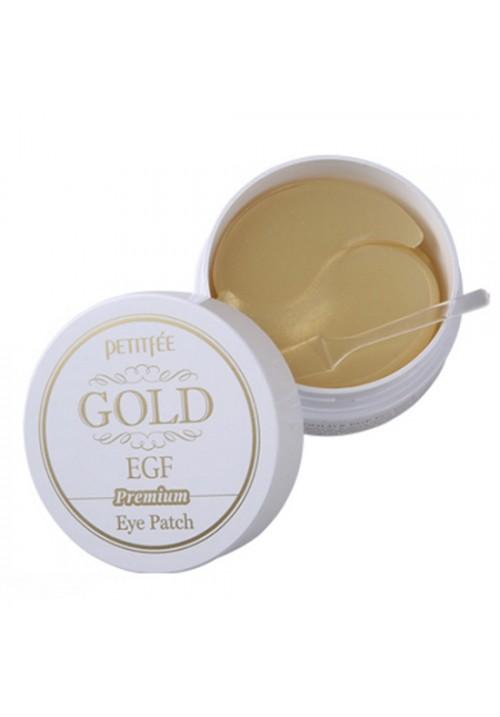Petitfee Гидрогелевые патчи для глаз EGF и золото802445Гидрогелевые патчи для глаз пропитаны концентрированной сывороткой, которая реагирует на температуру кожи, растворяется и проникает в глубокие слои дермы, устраняя мимические морщины. Компонент коллоидное золото 24К обеспечивает увлажняющий эффект и повышает упругость, борется с морщинами, подтягивают кожу вокруг глаз и носогубных складок. Также в составе присутствует EGF (эпидермиальный фактор роста), который замедляет процесс старения, способствует обновлению клеток эпидермиса, сохраняя молодость кожи.