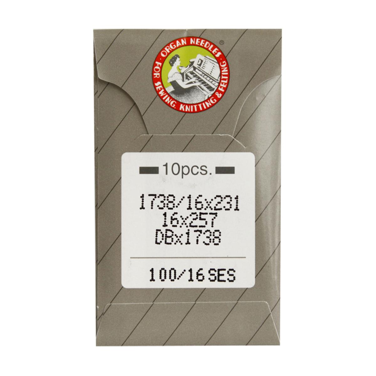 Иглы для промышленных швейных машин Organ, DBx1/100 SES, 10 шт162286Иглы для промышленных швейных машин Organ с маркировкой DBx1 предназначены для прямострочных швейных машин. Иглы используются для пошива трикотажа (SES). Острие игл тонкое, стандартное.Предназначены для машин цепного стежка 10Б, 53, 810 классов и импортных аналогов. В промышленных машинах используются иглы с круглыми колбами, в отличие от игл бытовых машин, у которых колбы плоские. Круглая колба позволяет при наладке машины и установке иглы поворачивать (вращать) иглу, закрепляя ее в нужном положении. Диаметр колбы: 1,64 мм. Длина иглы: 33,9 мм. Номер игл: 100.