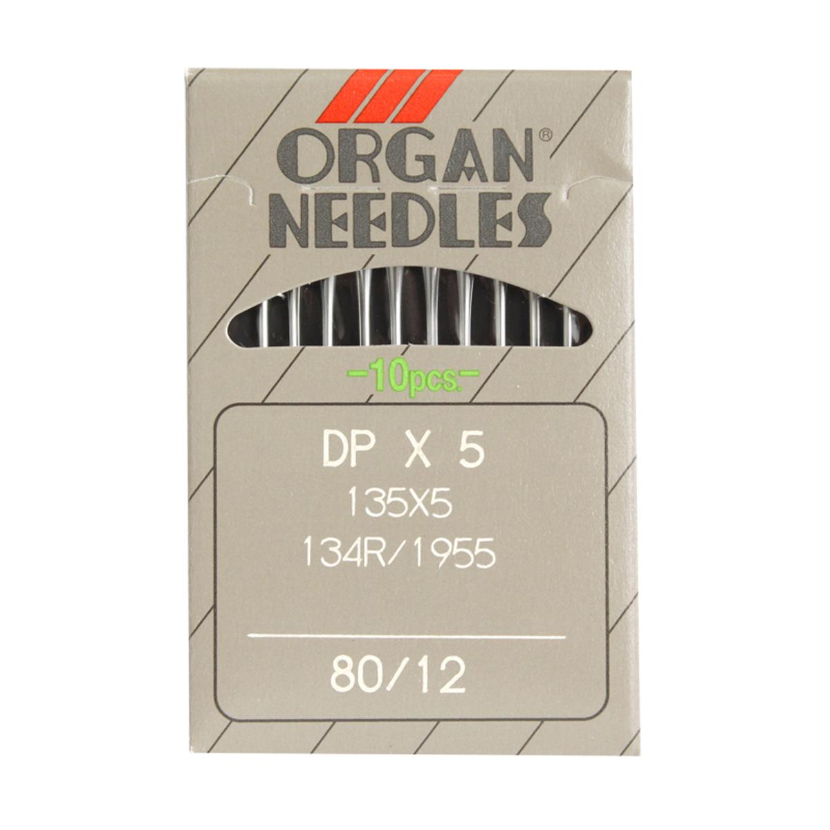 Иглы для промышленных швейных машин Organ, DPx5/80, 10 шт162287Иглы для промышленных швейных машин Organ с маркировкой DPx5 предназначены для прямострочных швейных машин. Иглы используются для пошива всех видов тканей. Острие игл тонкое, стандартное.Предназначены для машин 22, 1022, 25, 26, 57, 225, 226, 260, 272, 302, 322М, 426, 431, 436, 525, 570, 625, 725, 803, 820, 822, 826, 851, 852, 862, 897, 925, 1052, 1126, 1324, 1622, 1822, 1852, 1862, 3022М классов и импортных аналогов. В промышленных машинах используются иглы с круглыми колбами, в отличие от игл бытовых машин, у которых колбы плоские. Круглая колба позволяет при наладке машины и установке иглы поворачивать (вращать) иглу, закрепляя ее в нужном положении. Диаметр колбы: 2,02 мм. Длина иглы: 33,9 мм. Номер игл: 80.