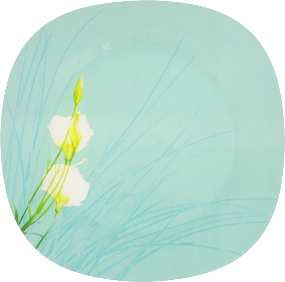 """Элегантная тарелка Luminarc """"Sofiane Blue"""" выполнена изударопрочного стекла и оформлена в классическом стиле.Изделие сочетает в себе изысканный дизайн с максимальнойфункциональностью. Она прекрасно впишется винтерьер вашей кухни и станет достойным дополнениемк кухонному инвентарю. Тарелка Luminarc """"Sofiane Blue"""" подчеркнет прекрасный вкус хозяйкии станет отличным подарком. Размер (по верхнему краю): 25,2 х 25,2 см."""