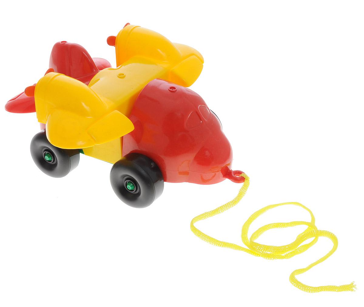 Bauer Каталка-конструктор Самолет цвет красный желтый bauer toys игрушка каталка самолет