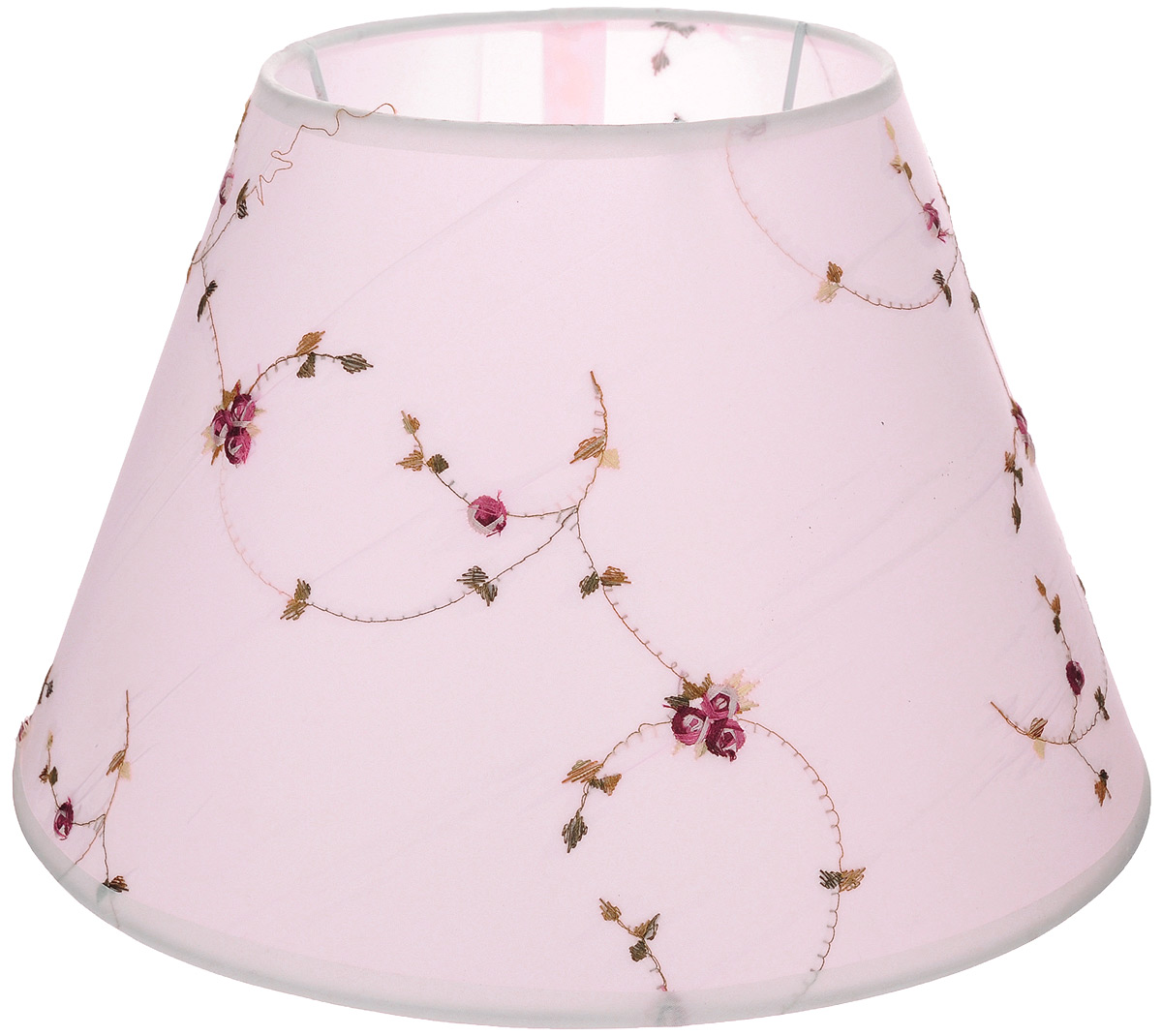 """Абажур для настольной лампы """"Vitaluce"""", цвет: светло-розовый, Е27, 30 х 30 х 20 см"""