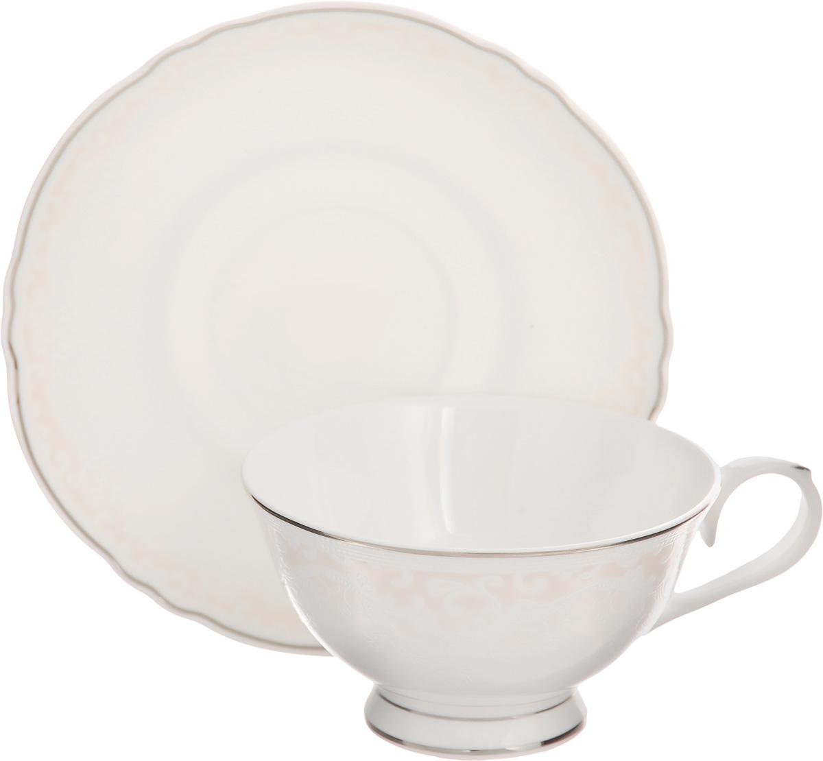Чайная пара Elan Gallery Розовый шик, 220 мл, 2 предмета чайная пара elan gallery сиреневый туман 2 предмета