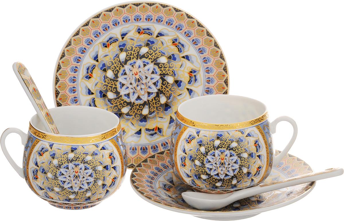 Набор кофейный Elan Gallery Калейдоскоп, 6 предметов730447Кофейный набор Elan Gallery Калейдоскоп состоит из 2 чашек, 2 блюдец и 2 ложек,изготовленных из керамики высшего качества, отличающейся необыкновеннойпрочностью и небольшим весом. Яркий дизайн, несомненно, придется вам повкусу.Кофейный набор Elan Gallery Калейдоскоп украсит ваш кухонный стол, атакже станет замечательным подарком к любому празднику.Не рекомендуется применять абразивные моющие средства. Не использовать вмикроволновой печи.Объем чашки: 130 мл.Диаметр чашки (по верхнему краю): 5,5 см.Высота чашки: 5 см.Диаметр блюдца: 11,5 см.Высота блюдца: 1,5 см.Длина ложки: 10 см.