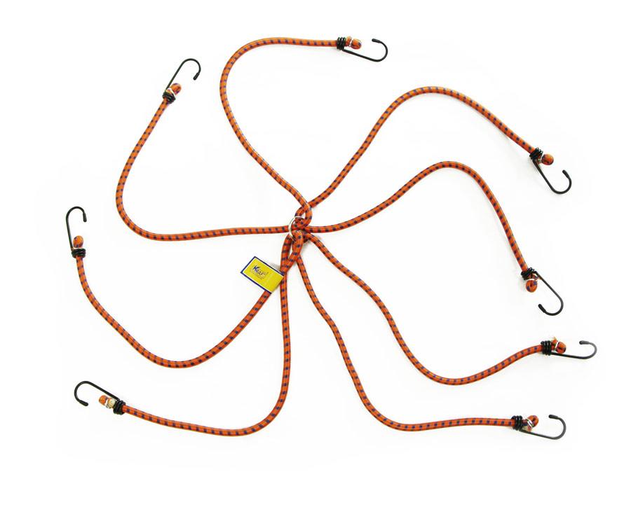 Набор резинок Kraft Паук, 4 штКТ 86000480 см,D=8 мм(метал.крючки)