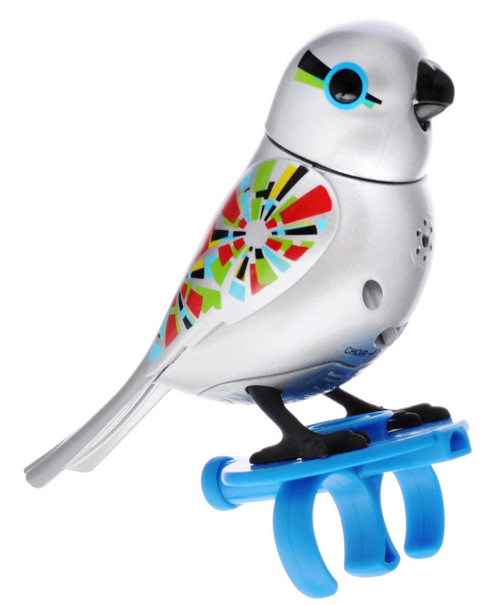 DigiBirds Интерактивная игрушка Птичка с кольцом цвет серебряный silverlit digibirds пингвин фигурист с кольцом серый