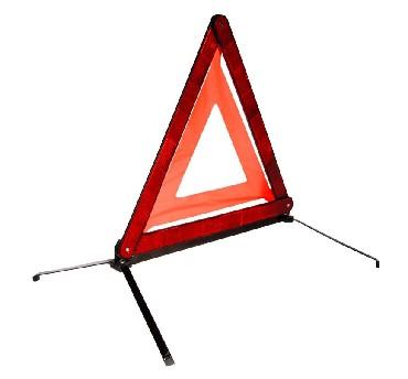 Знак аварийной остановки Kraft с металлическим основаниемКТ 8300054 металлические ножки. Тряпичная флуорисцентная полоса. Ширина светоотражающей полосы 32 см