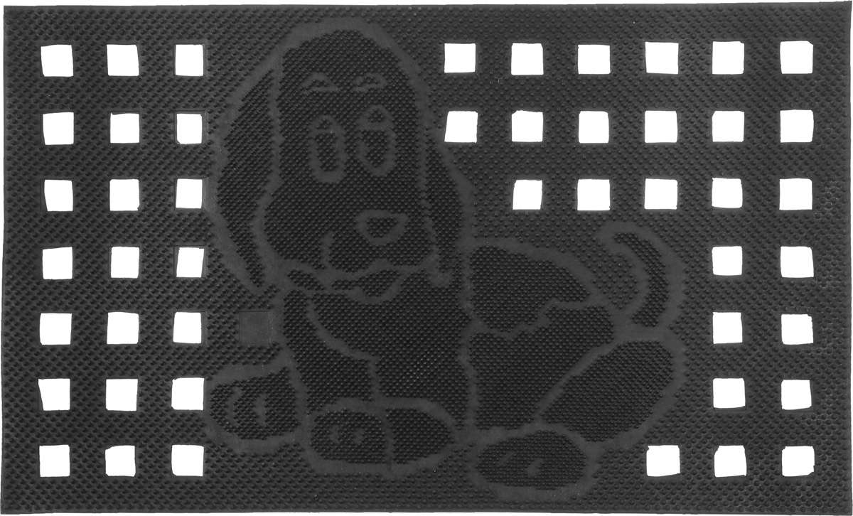 Коврик придверный SunStep Собака, 75 х 45 см коврик домашний sunstep цвет бежевый 140 х 200 х 4 см