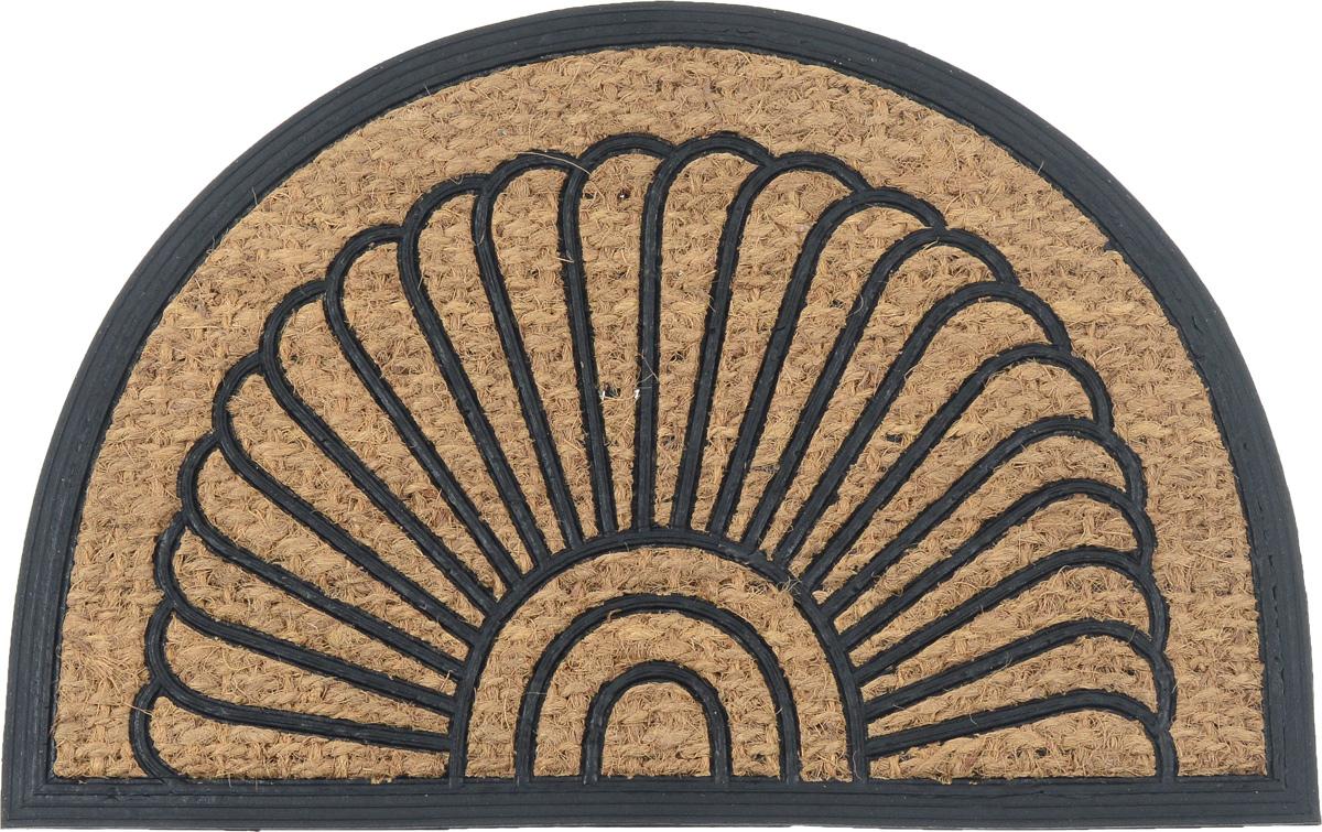 Коврик придверный SunStep Античный, 60 х 40 см32-071Оригинальный придверный коврик SunStep Античный надежно защититпомещение от уличной пыли и грязи. Он изготовлен из жесткого кокосовоговолокна и нескользящей резиновой основы. Волокна кокоса неподвержены гниению и не темнеют, поэтому коврик сохранит привлекательныйвнешний вид на долгое время.