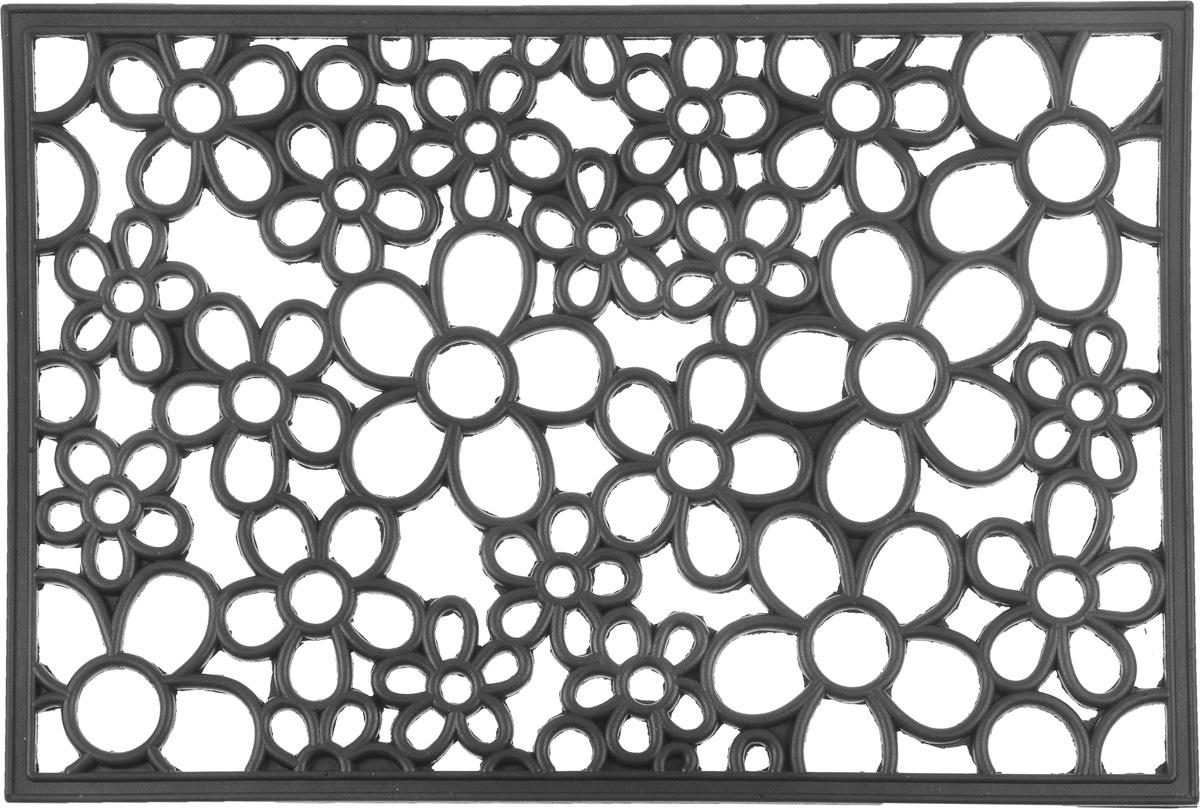 Коврик придверный SunStep Цветы, 60 х 40 см коврик домашний sunstep цвет бежевый 80 х 150 х 4 см