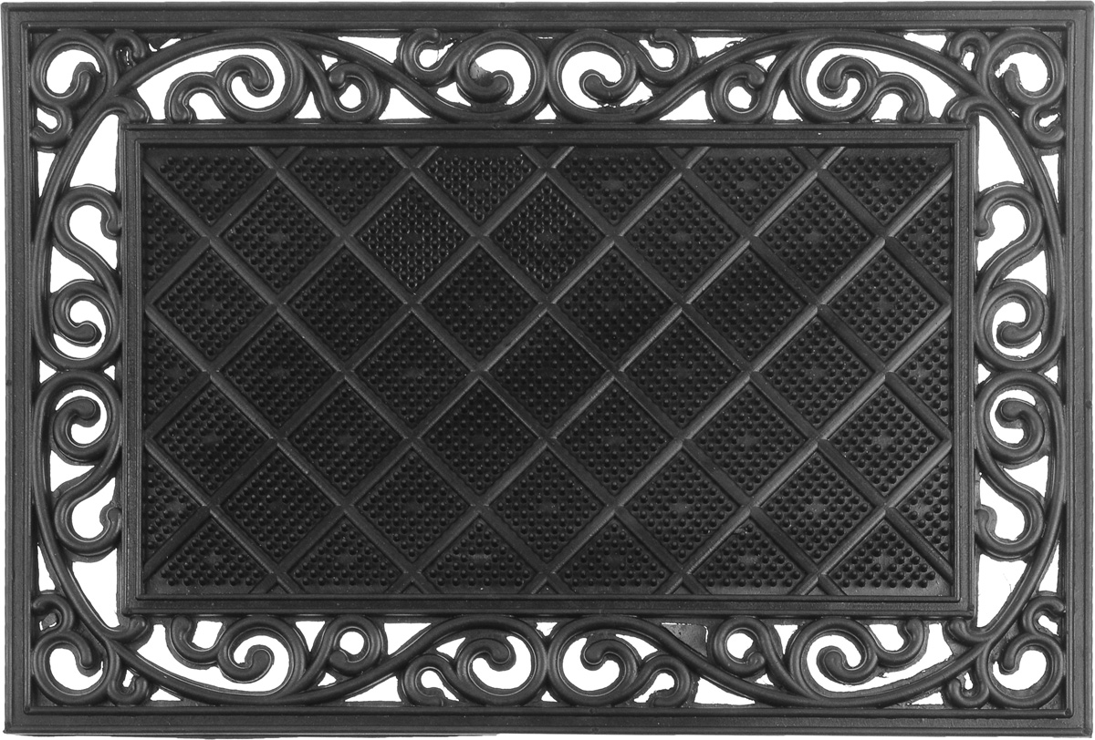 Коврик придверный SunStep Трианон, 60 х 40 см30-016Придверный коврик SunStep Трианон, выполненный из резины, прост в обслуживании, прочный и устойчивый к различным погодным условиям. Его основа предотвращает скольжение по гладкой поверхности и обеспечивает надежную фиксацию. Такой коврик защитит помещение от уличной пыли и грязи.