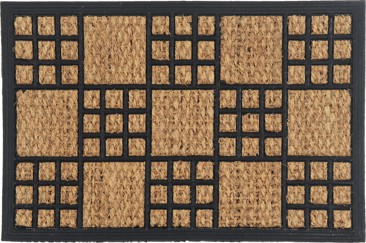 Коврик придверный SunStep Шашки, 60 х 40 см коврик домашний sunstep цвет бежевый 60 х 110 х 4 см