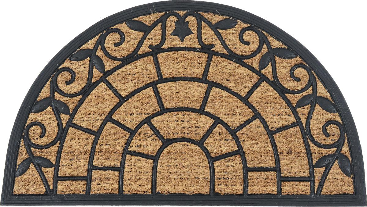Коврик придверный SunStep Веранда, 75 х 45 см32-090Оригинальный придверный коврик SunStep Веранда надежно защитит помещение от уличной пыли и грязи. Он изготовлен из жесткого кокосового волокна и нескользящей резиновой основы. Волокна кокоса не подвержены гниению и не темнеют, поэтому коврик сохранит привлекательный внешний вид на долгое время.