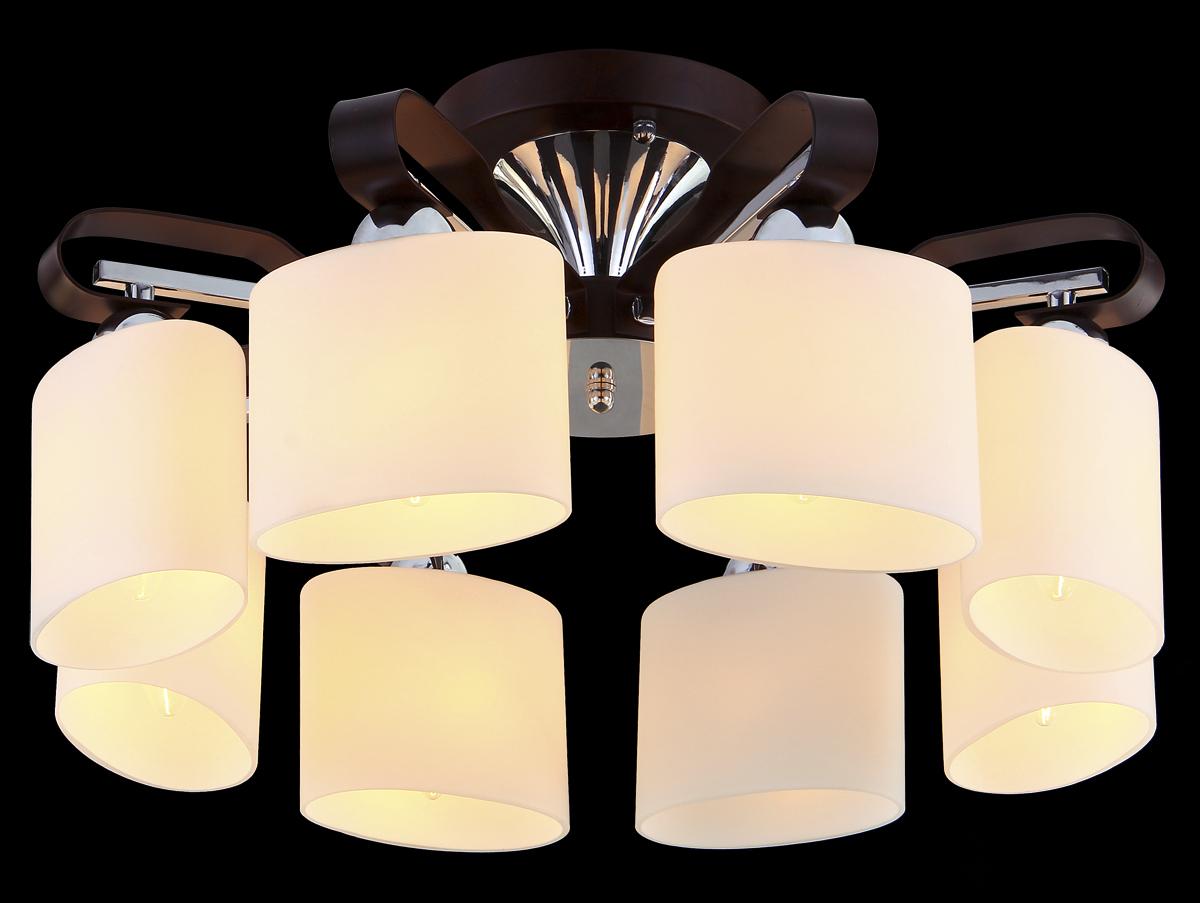 Люстра Natali Kovaltseva, 8 x E14, 60W. 10684/8C10684/8C TOONЛюстра Natali Kovaltseva станет украшением вашей комнаты и красиво дополнит интерьер. Изделие крепится к потолку. Такая люстра отлично подойдет для освещения кабинета, столовой, спальни или гостиной. Люстра выполнена из металла с хромированной поверхностью и дерева тун, снабжена 8 овальными плафонами из матового стекла. В коллекциях Natali Kovaltseva представлены разные стили - от классики до хайтека. Дизайн и технологическая составляющая продукции разрабатывается в R&D центре компании, который находится в г. Дюссельдорф, Германия. При производстве продукции используются высококачественные и эксклюзивные материалы: хрусталь ASFOR, муранское стекло, перламутр, 24-каратное золото, бронза. Производство светильников соответствует стандарту системы менеджмента качества ISO 9001-2000. На всю продукцию ТМ Natali Kovaltseva распространяется гарантия.