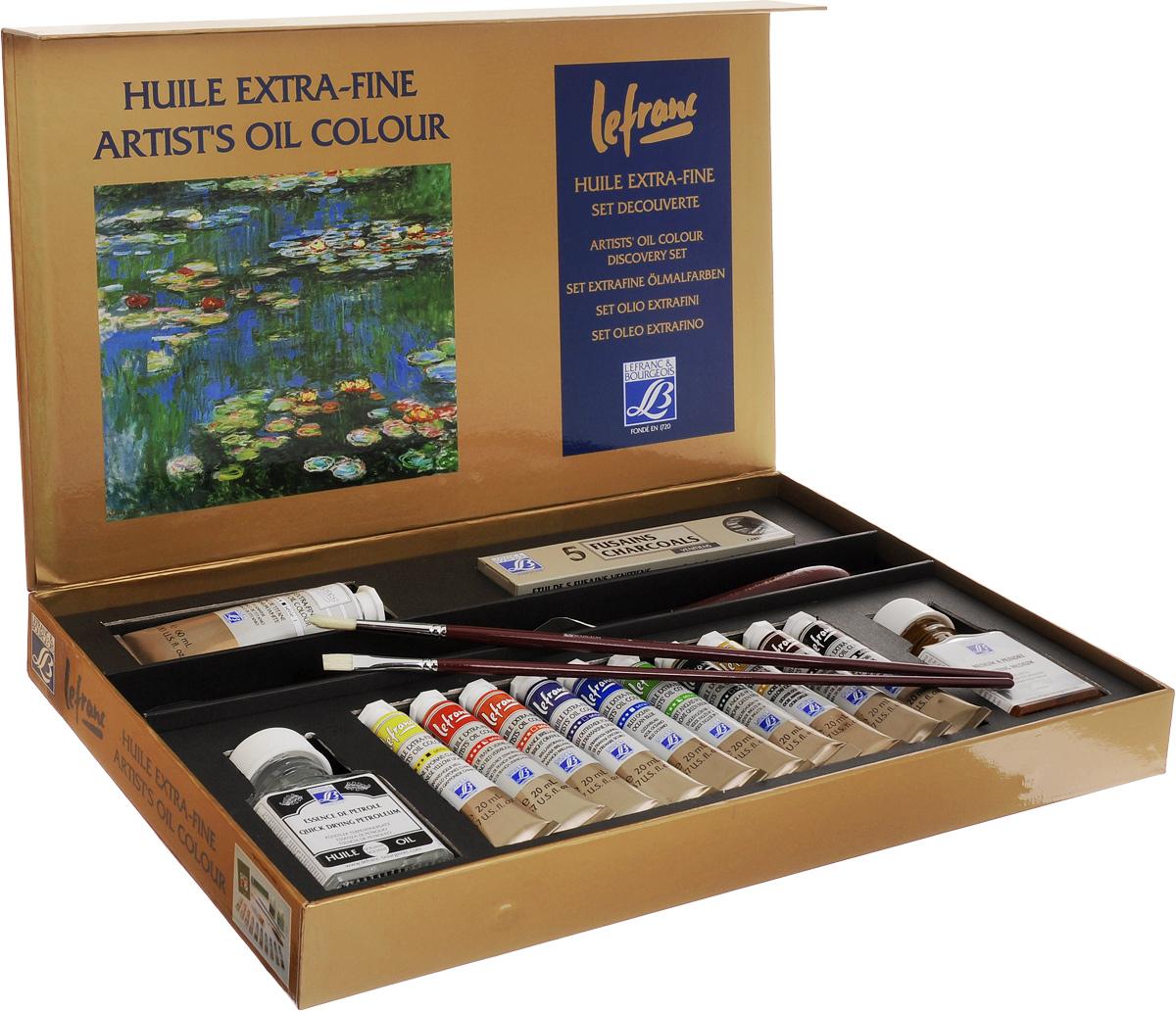 Набор масляных красок Lefranc & Bourgeois Extra Fine Discovery, 17 предметов масло льняное полимерезиновое lefranc