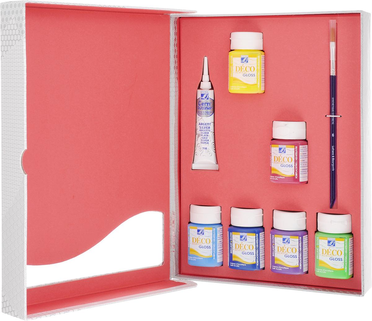 Набор акриловых красок Lefranc & Bourgeois Miss Deco, 8 предметов масло льняное полимерезиновое lefranc