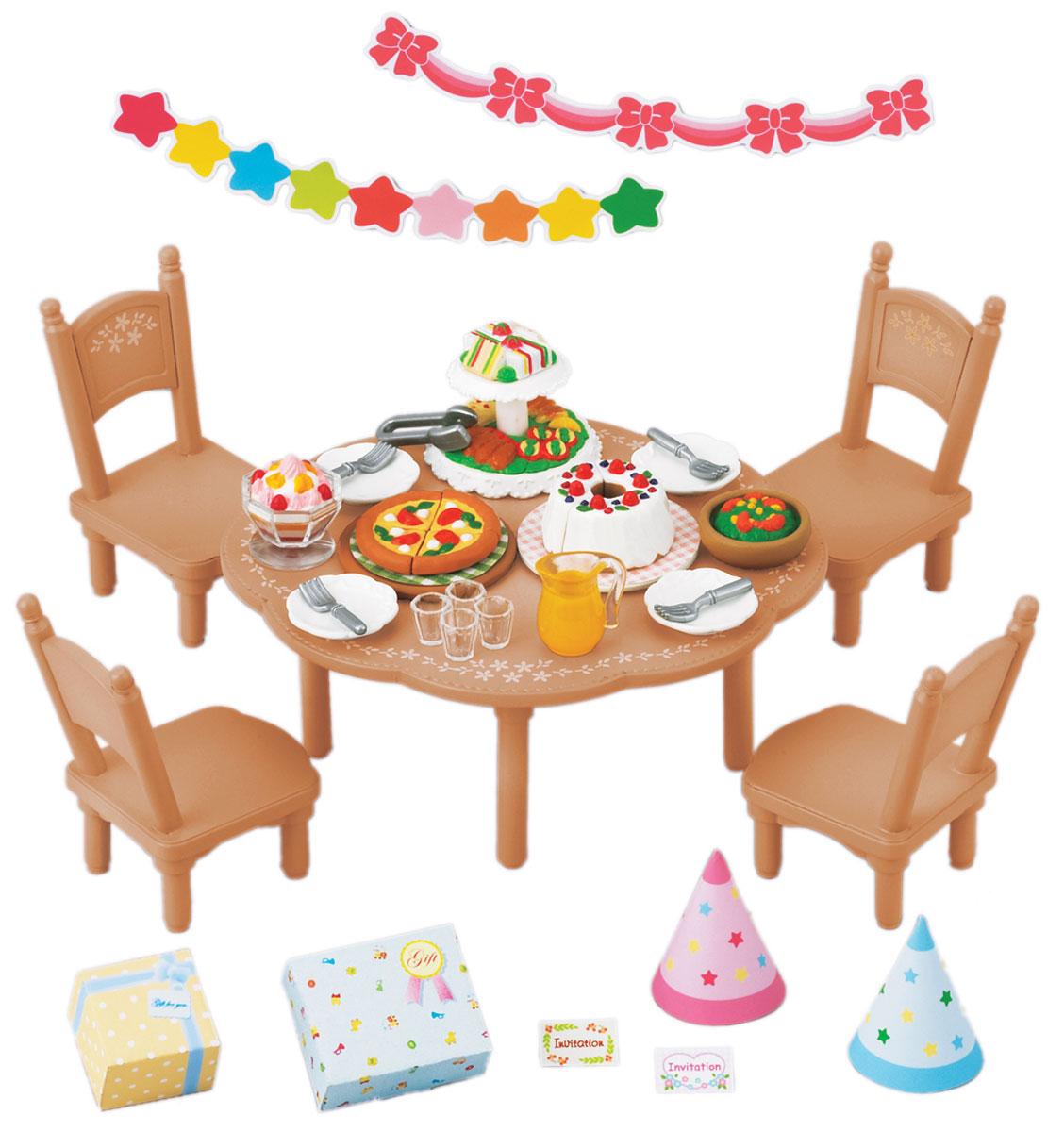 Sylvanian Families Игровой набор Вечеринка игра sylvanian families праздничные платья 5236