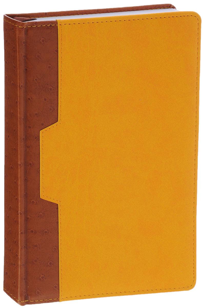 Index Ежедневник Desert недатированный 168 листов цвет коричневый желтыйIDN105/A5/YEНедатированный ежедневник Index Desert - это один из удобных способов систематизации всех предстоящих событий и незаменимый помощник для каждого. Обложка выполнена из высококачественной искусственной кожи с прострочкой по периметру и тиснением. Внутренний блок на 336 страниц выполнен из белой офсетной бумаги с закругленными отрывными уголками. Ежедневник содержит страницу для заполнения личных данных, календарь с 2015 по 2018 год, справочно-информационный блок, телефонно-адресную книгу, а также ляссе для быстрого поиска нужной страницы. Все планы и записи всегда будут у вас перед глазами, что позволит легко ориентироваться в графике дел, событий и встреч.