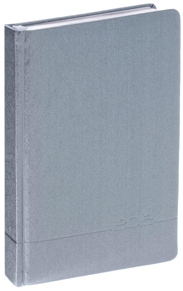Index Ежедневник Shine датированный 168 листовIDD0616/A5/GR/SНедатированный ежедневник Index Shine - это один из удобных способов систематизации всех предстоящих событий и незаменимый помощник для каждого. Обложка выполнена из высококачественной искусственной кожи с прострочкой по периметру и тиснением. Внутренний блок на 336 страниц выполнен из белой офсетной бумаги с закругленными отрывными уголками и серебряным обрезом. Ежедневник содержит страницу для заполнения личных данных, календарь с 2015 по 2018 год, справочно-информационный блок, телефонно-адресную книгу, а также ляссе для быстрого поиска нужной страницы. Все планы и записи всегда будут у вас перед глазами, что позволит легко ориентироваться в графике дел, событий и встреч.