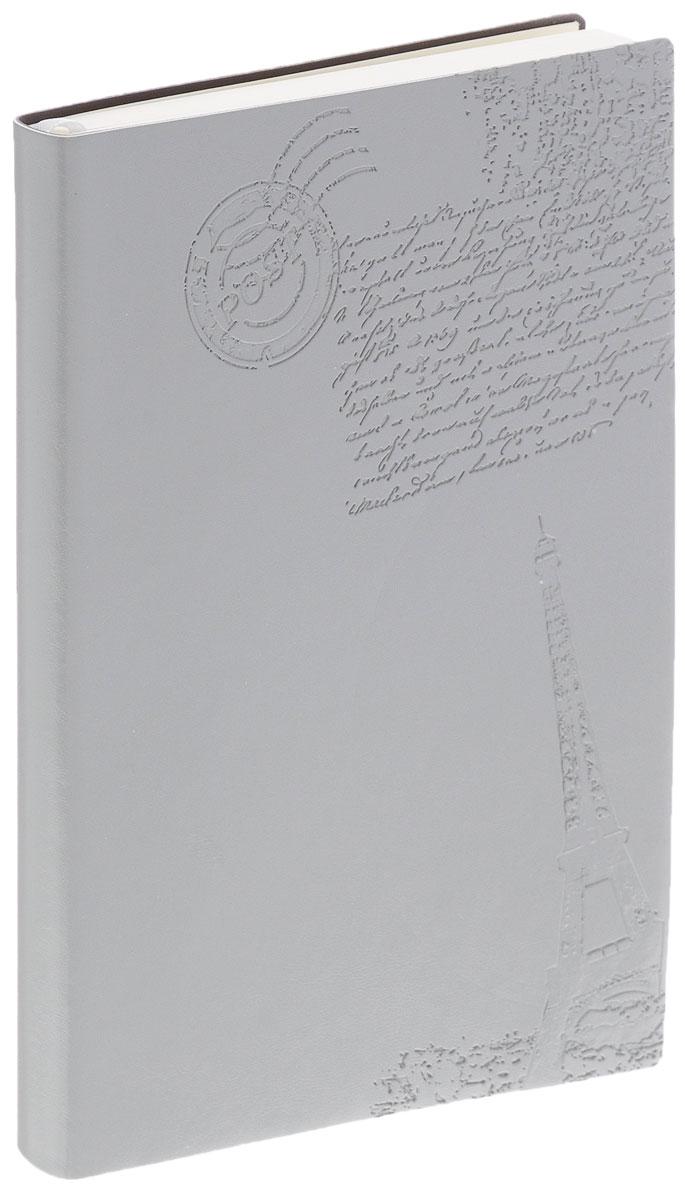 Index Ежедневник Paris недатированный 128 листов цвет серый36380Недатированный ежедневник Index Paris - это один из удобных способов систематизации всех предстоящих событий и незаменимый помощник для каждого. Мягкая обложка выполнена из высококачественной искусственной кожи и украшена тисненым изображением Эйфелевой башни. Внутренний блок на 256 страниц выполнен из состаренной офсетной бумаги.Ежедневник содержит страницу для заполнения личных данных, календарь с 2016 по 2017 год, телефонно-адресную книгу, а также ляссе для быстрого поиска нужной страницы. Все планы и записи всегда будут у вас перед глазами, что позволит легко ориентироваться в графике дел, событий и встреч.