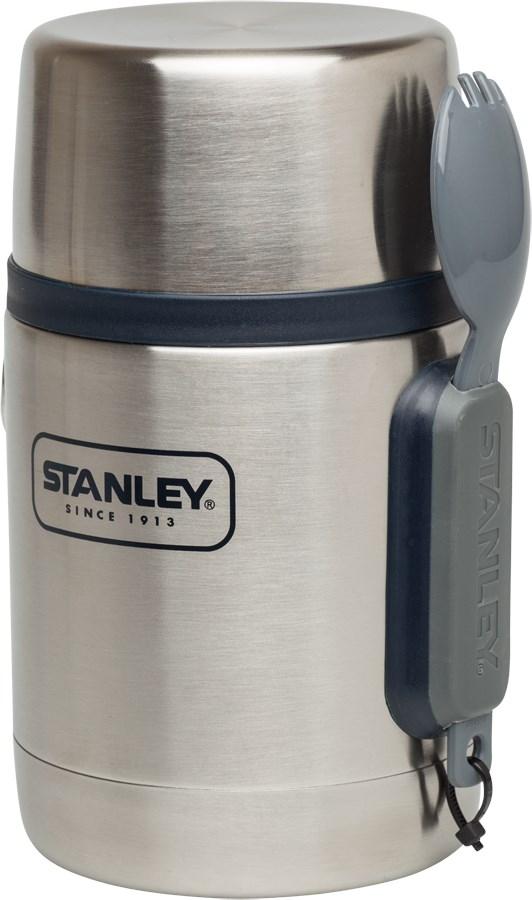 Термос Stanley Adventure, с ловилкой, цвет: стальной, 0,53 л