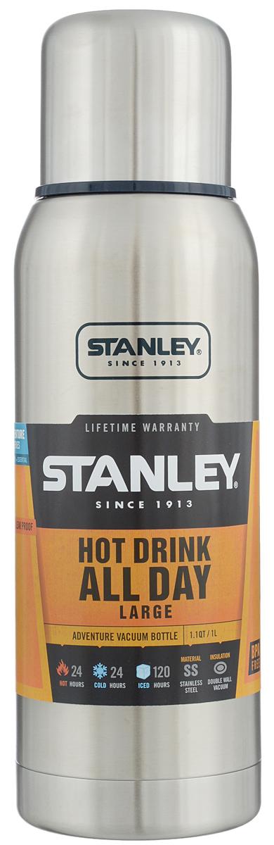 Термос Stanley Adventure, цвет: стальной, 1 л