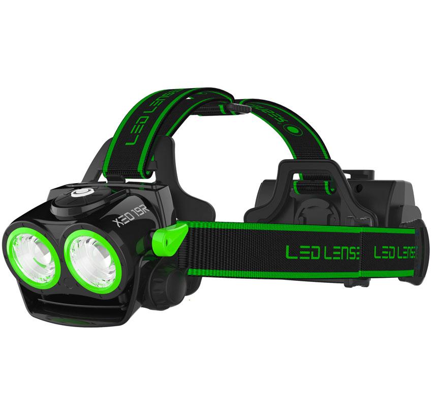 Фонарь налобный LED Lenser XEO 19R, с аккумулятором, цвет: зеленый7319-RGНалобный светодиодный фонарь XEO 19R - это достаточно мощный и эффективный фонарь для активного использования, он выделяется большой мощностью, наличием разных современных технологии, понравится любителям экстремальных видов спорта. Его корпус выполнен из алюминия и прочного пластика.Световой поток -2000/200лм. Питание - 1x 18650 Li-ion (литий-ионный аккумулятор).Потребляемая мощность - 38,48 ватт/час.Время свечения - 4/20 ч. Дальность свечения - 300/100 м.Время зарядки - 8 часов.Особенности: - Адаптивная фокусная система AFS; - Система охлаждения SPEED COOLING -при увеличении скорости движения - увеличивается охлаждение и яркость; - Оptisense - интегрированный сенсор яркости -отражение света в реальном времени;- SLT-Система микропроцессорного контроля режимов освещения (форсаж, полная мощность, малая мощность, реальное время, аварийный, стробоскоп) ; - X-lens Technology - две синхронизованные рефлекторные линзы,возможность зарядки фотоаппарата и телефона. Вес фонаря с аккумулятором: 472 г.