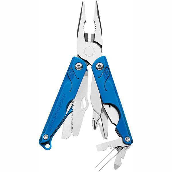 Мультитул Leatherman Leap , цвет: синий831839Мультитул LEAP: из нержавеющей стали острогубцы,пассатижи, линейка,пинцет, кусачки для проводов,открывалка для бутылок, нож 420 НС, отвертка Phillips, средняя отвертка,маленькая отвертка,подпружиненные ножницы, пила, полиамидные накладки,эргономичный захват,съемное лезвие,длина лезвия 5,5 см, в сложенном состоянии 8,3 см,вес 138 гр.,Цвет синий. Упакован в картонную коробку.Гарантия 25 лет.