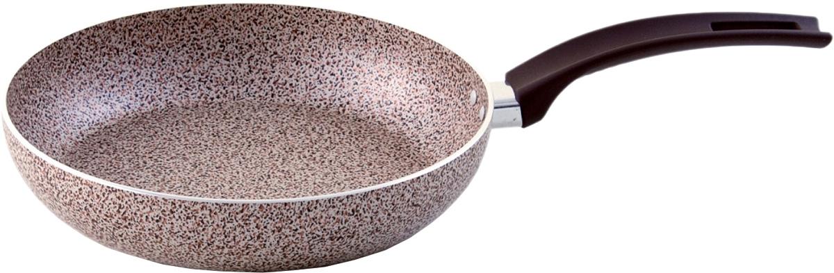 Сковорода Vari Minerale, с тефлоновым покрытием. Диаметр 22 смMR17122/11Сковорода Vari Minerale изготовлена из штампованного алюминия с тефлоновым покрытием. Покрытие устойчиво к царапинам, легко моется, подходит для приготовления пищи как в малом количестве масла, так и без него. Vari Minerale - штампованная посуда с современным антипригарным покрытием, в каменном дизайне. Корпус обеспечивает быстрый равномерный нагрев, а современное долговечное антипригарное покрытие повышенной прочности сделает приготовление пищи комфортным и безопасным. Удобная и изящная итальянская ручка эффектом So-Touch из последней коллекции. Пластиковая ручка убережет ваши руки от контакта с высокими температурами.Подходит для газовой, электрической, стеклокерамической плиты. Можно мыть в посудомоечной машине.Длина ручки: 24 см.Высота стенки: 4 см.Толщина стенки: 3 мм.Толщина дна: 3 мм.