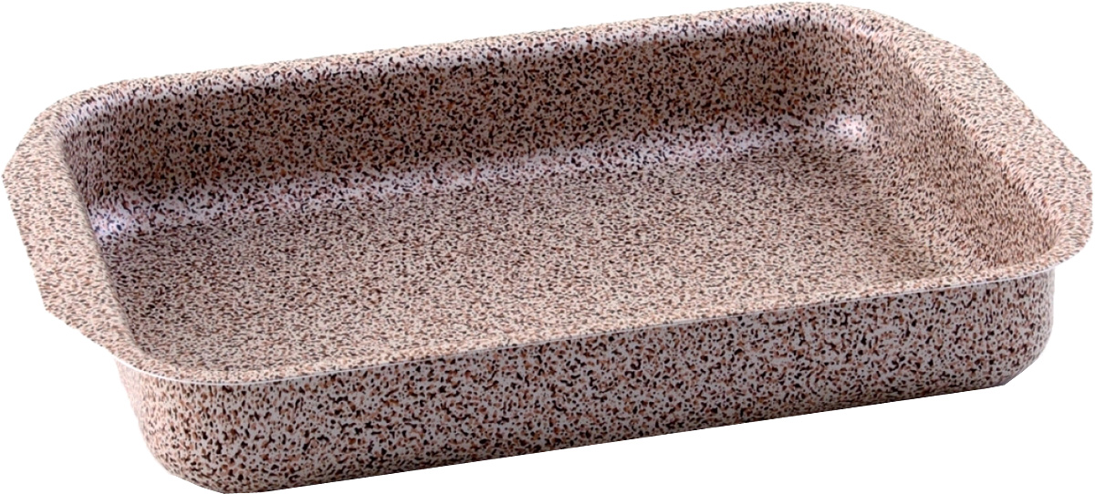 Противень Vari, 27 х 35 х 5,5 см. MR21350MR21350Minerale - штампованная посуда с современным антипригарным покрытием, в каменном дизайне. Корпус толщиной до 2,8 мм обеспечивает быстрый равномерный нагрев, а современное долговечное антипригарное покрытие повышенной прочности сделает приготовление пищи комфортным и безопасным. Удобная и изящная итальянская ручка эффектом So-Touch из последней коллекции. Сочетание привлекательного внешнего вида и отличных антипригарных свойств делает посуду линии Minerale прекрасной альтернативой дорогой «каменной» посуде, но по доступной для многих цене. Линия Minerale рассчитана на потребителей, следящих за модой и ценящих в посуде надежность, качество и безопасность.