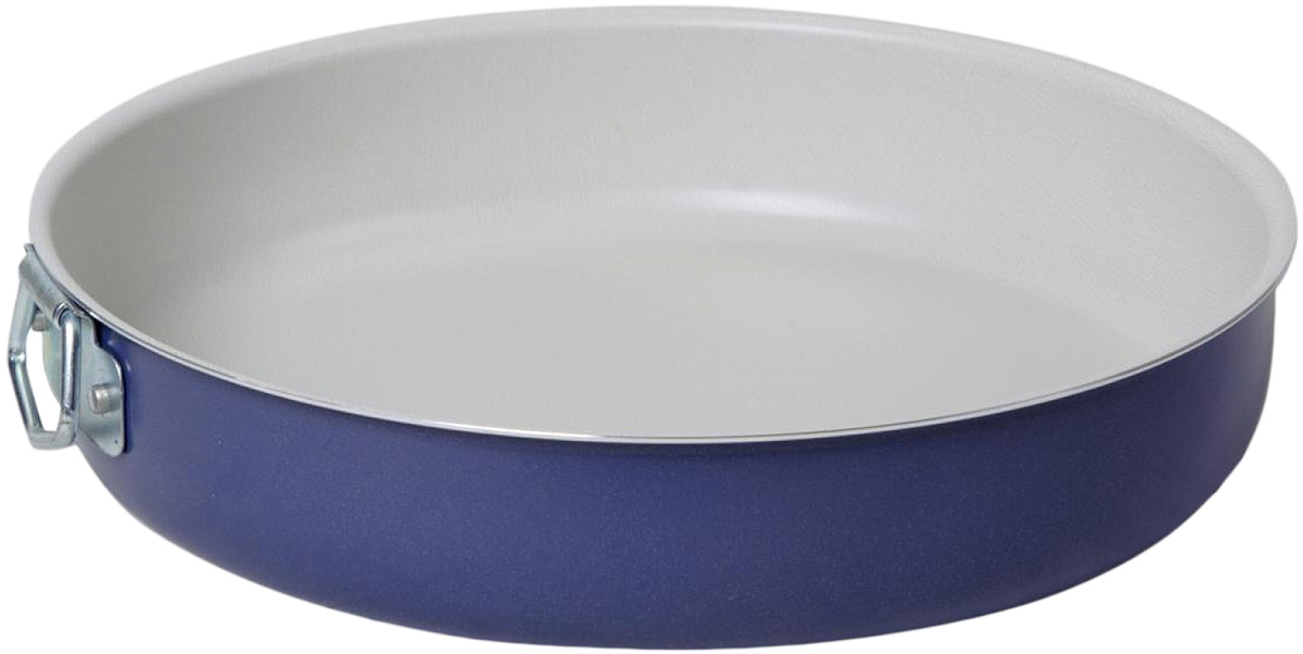 Форма для выпечки Vari Flora, цвет: фиалковый. Диаметр 24 смV19324Яркая, стильная коллекция посуды Flora, привнесет отличное настроение в порой обыденный процесс приготовления блюд. Модное внешнее покрытиеобладает высокой жаропрочностью, экологически чистое, легко очищается, долго сохраняет свой цвет. Удобные ручки подобраны точно под цвет корпуса, изготовлены из прочного бакелитового сплава, которыйне нагревается, оберегает руки от ожогов. Внутреннее антипригарное покрытие цвета слоновой костиимеет идеально гладкую поверхность с формулой двойной защиты от пригорания. На покрытии светлого цвета гораздо легче контролировать процесс жарки любимых блюд.