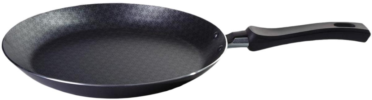 Сковорода блинная Vari Vita, цвет: черный. Диаметр 24 смВ52124Благодаря удачному сочетанию функциональных свойств и усиленного покрытия посуда серии Vita позволяет готовить низкокалорийную пищу за счет использования минимального количества жиров. Посуда выполнена из штампованного алюминия толщиной до 2,8 мм. Корпус быстро и равномерно разогревается, распределяет и удерживает тепло. Классическое сочетание цветов внешнего и внутреннего покрытия создадут атмосферу уюта и удачно дополнят интерьер любой кухни.Антипригарное покрытие Scandia - одно из самых популярных и качественных покрытий в среднем ценовом сегменте. Прекрасно зарекомендовало себя на протяжении долгих лет. Уникальные рисунок в виде сот выполняет не только декоративную функция, но и обеспечивает дополнительный усиленный антипригарный слой.Внешнее жаростойкое покрытие черного цвета с ярким перламутровым блеском.