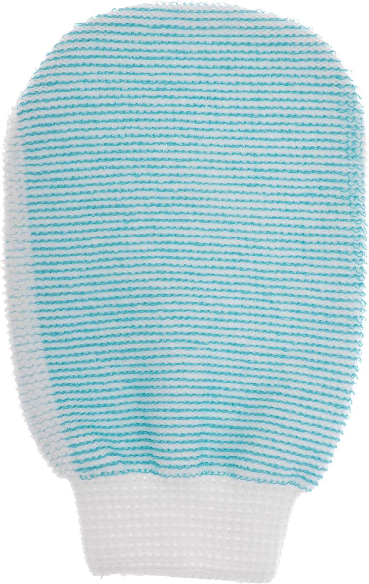 Мочалка-рукавица массажная Riffi, двухсторонняя, цвет: белый, бирюзовый, 22 х 13 см407_белый, бирюзовыйМочалка-рукавица Riffi выполнена из хлопка,полиэстера и полиэтилена. Она применяется для мытьятела, обладает активным пилинговым действием,тонизирует, массирует и эффективно очищает вашукожу. Интенсивный и пощипывающий массаж сприменением такой мочалкой усиливаеткровообращение и улучшает общее самочувствие.Благодаря отшелушивающему эффекту, кожаосвобождается от отмерших клеток, становитсягладкой, упругой и свежей.Мочалка-рукавица Riffi приносит приятноерасслабление всему организму. Борется с болями испазмами в мышцах, а также эффективнопредупреждает образование целлюлита.Товар сертифицирован.