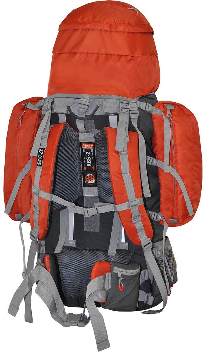 Рюкзак экспедиционный Nova Tour Абакан 130, цвет: серый, терракотовый, 130 л рюкзак туристический сплав voyager 130 v 2 цвет синий серый 130 л