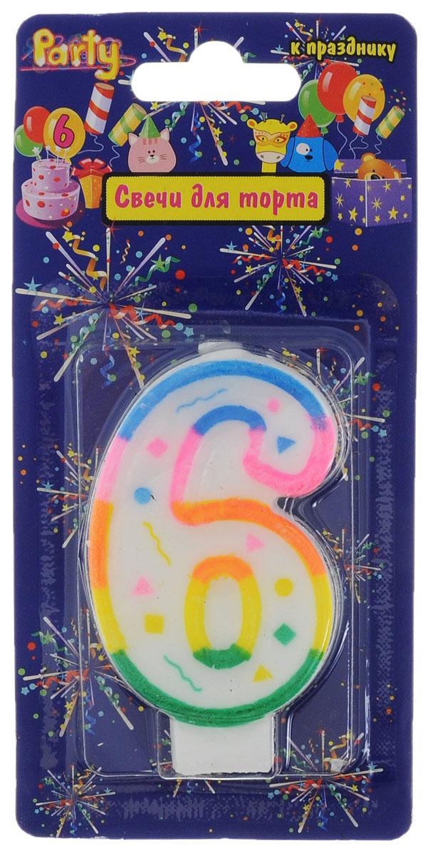 Action! Свеча-цифра для торта 6 лет