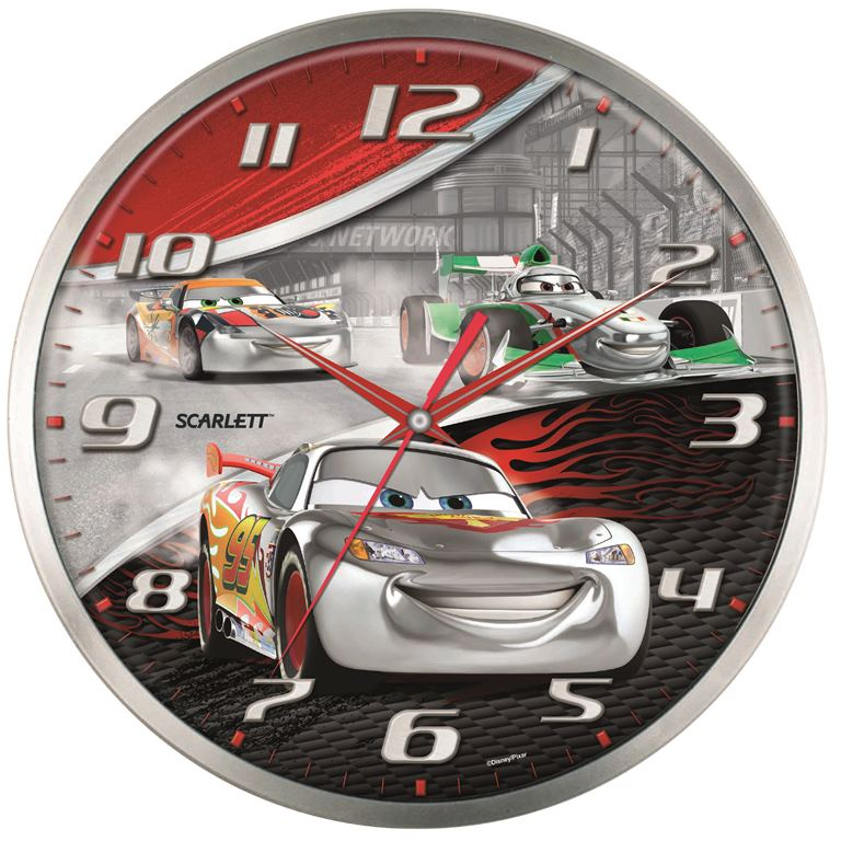 """Настенные кварцевые часы """"Scarlett"""", изготовленные из  пластика, прекрасно впишутся в интерьер вашего дома.  Круглые часы имеют три стрелки: часовую, минутную и  секундную, циферблат защищен прозрачным  пластиком.  Часы работают от 1 батарейки типа АА напряжением 1,5 В  (батарейка в комплект не входит).  Часы бренда """"Scarlett"""" - это надежность, качество и изящность  стиля во все времена.  Диаметр часов: 33 см."""