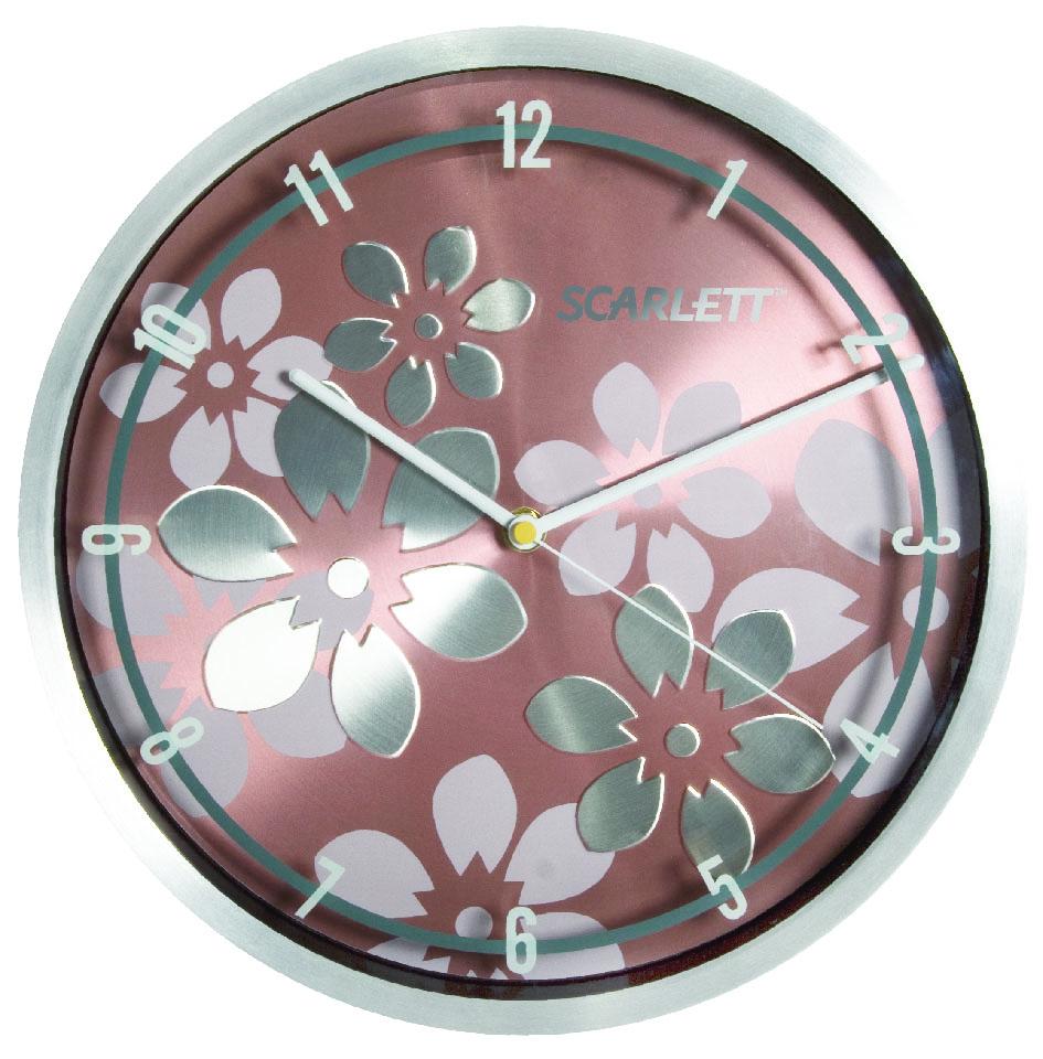 Часы настенные Scarlett, диаметр 30 см. SC - 33BSC - 33BНастенные кварцевые часы Scarlett, изготовленные из пластика, прекрасно впишутся в интерьер вашего дома. Круглые часы имеют три стрелки: часовую, минутную и секундную, циферблат защищен прозрачным пластиком. Часы работают от 1 батарейки типа АА напряжением 1,5 В (батарейка в комплект не входит). Диаметр часов: 30 см.