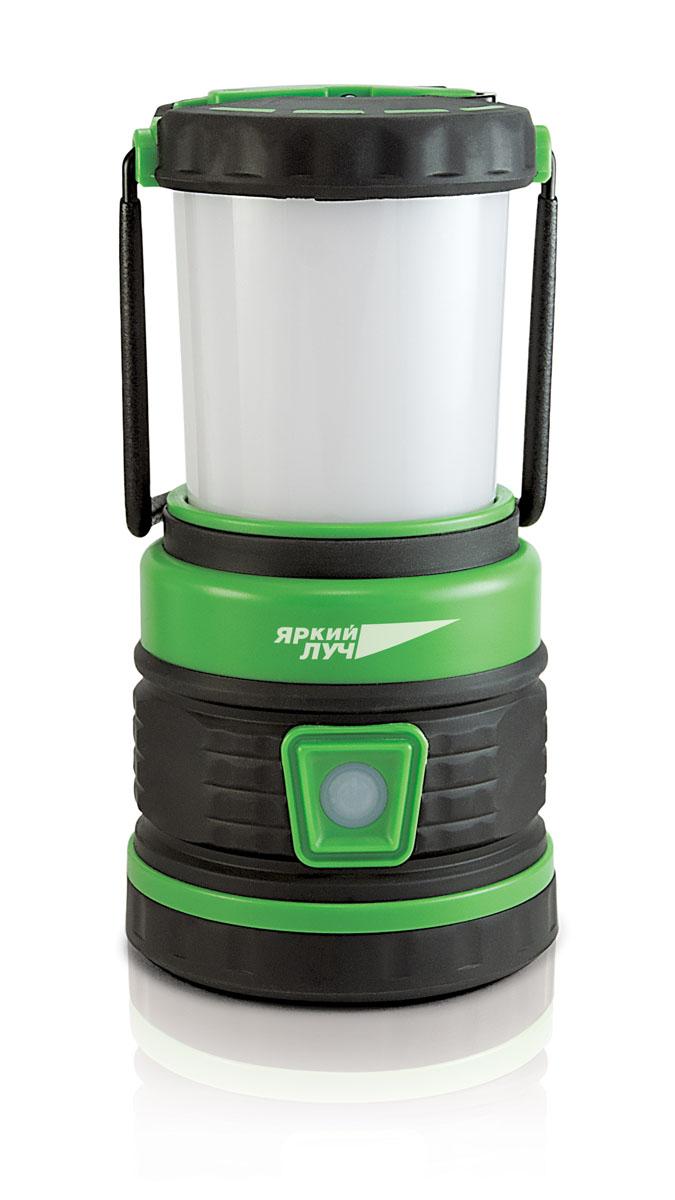 Фонарь кемпинговый Яркий луч. CL-350ACL-350AКемпинговый фонарь Яркий луч - это отличное решение для любительского туризма и вылазок на природу. Благодаря пяти светодиодам фонарь обеспечивает свет яркостью до 350 lx. Корпус изделия, выполненный из высококачественного пластика, снабжен специальным крючком для подвешивания, что существенно облегчает использование прибора. Основные характеристики: - USB разъем: для зарядки аккумулятора съемный плафон для освещения горизонтальных поверхностей. - источник света: светодиод; - количество источников света: 5; - яркость: 350 lx; - режимов работы: 5;- питание: от аккумулятора; - напряжение аккумулятора: 3,7 В.- тип аккумулятора: Li-Ion; - емкость аккумулятора: 4 Ач; - продолжительность работы: 30 ч; - время заряда: 4 ч; - материал корпуса: пластик; - крючек для подвешивания; - индикатор заряда. 5 режимов работы:- 20% - 4 белых SMD светодиода, световой поток (70 люмен).- 50% белый сет, световой поток (175 Люмен). - 100% белый свет, световой поток (350 Люмен).- 100% красный свет, 1 красный SMD светодиод - мигающий красный свет (S.O.S).