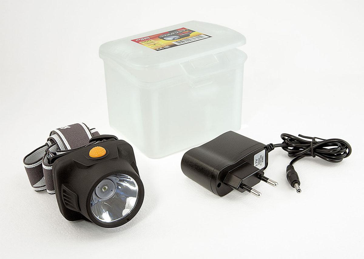 Фонарь налобный Яркий луч Компакт, аккумуляторный. LH-100A фонарь налобный яркий луч lh 030 droid черный