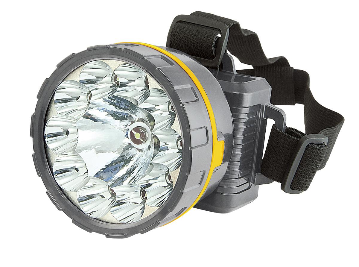 Фонарь налобный Яркий Луч Механик, цвет: серый. LH-105ALH-105A МеханикВ данном фонаре в качестве источника света используется центральный светодиод мощностью 0.5 Вт и 10 светодиодов повышенной яркости,расположенные по кругу. Два режима работы.1) Центральный светодиод 0.5 Вт, время работы при полностью заряженном аккумуляторе – 18 ч. 2) светодиод 0.5 Вт + 10 светодиодов повышенной яркости, время работы – 7 ч. Кислотно-свинцовый аккумулятор 1500 мАч (более 500 циклов), время зарядки составляет 12 ч. Входное напряжение 110 – 220 В, 50 Гц. Возможность регулировки положений головной части относительно аккумуляторного блока. Корпус выполнен из ABS-пластика.